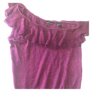Deep Purple One Shoulder Sweater